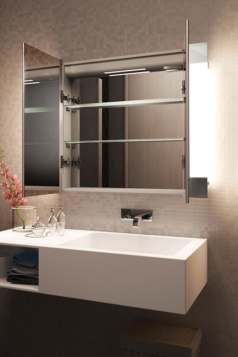 Élégant dévésiculeur Bathroom Cabinet avec désembuage capteur & rasoir k1506i
