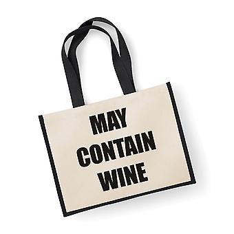 Large Black Jute Bag May Contain Wine