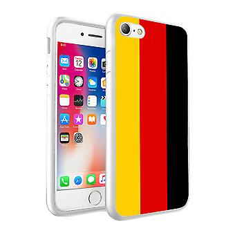 For Apple iPhone 6s Plus - Germany Flag Design Printed White Case Skin Cover - 0065 by i-Tronixs