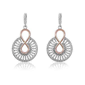 Orphelia Silver 925 Earring ronde met Rose met Zirkonium - ZO-7437