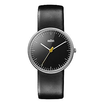 Braun Analog quartz women's watch with black leather strap BN0021BKBKL