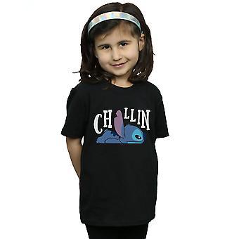 Disney Mädchen Lilo und Stitch Chillin T-Shirt