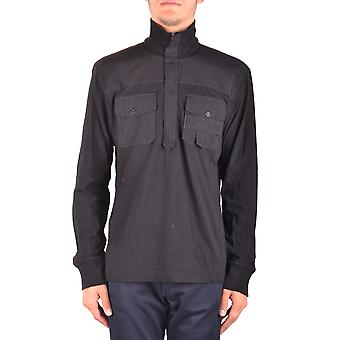 Bikkembergs Ezbc101068 Men's Black Cotton Sweater