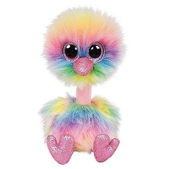 Ty Beanie Boos Asha Pastel struisvogel 15 cm knuffel,