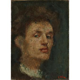 صورة ذاتية, Edvard مونش,33x24.5cm