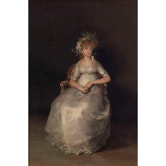 La Comtesse de Chinchon, Francisco Goya, 60x40cm