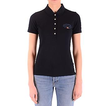 Napapijri Ezbc137003 Women's Blue Cotton Polo Shirt