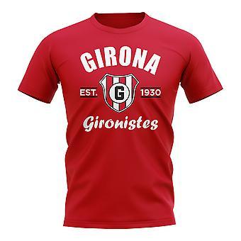 Girona perustettiin jalka pallo T-paita (punainen)