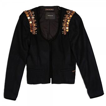Maison Scotch Rock Inspired Fancy Blazer With Gold Tone Shoulder Decorations