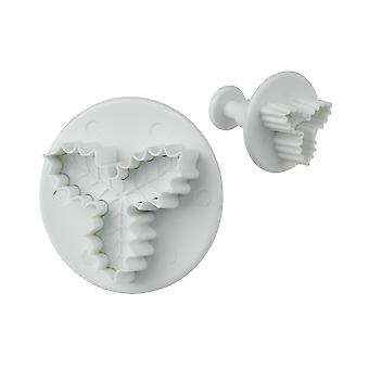 Tala Veined 3 Leaf Holly Plunger Cutters, Set of 3