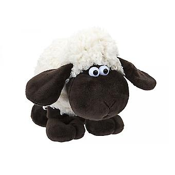 15cm Woolly Sheep With Comical Eyes