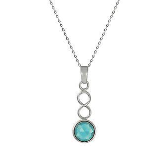 Wieczne listopada kolekcji Blue Topaz Birthstone Sterling Silver Pendant