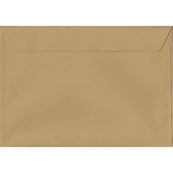 Keks Beige Schale/Dichtung C5/A5 farbige braune Umschläge. 120gsm Luxus FSC zertifiziertes Papier. 162 mm x 229 mm. Wallet-Stil-Umschlag.