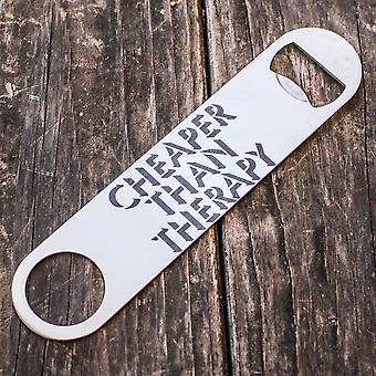 Cheaper than therapy - bottle opener