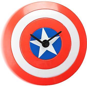 Captain America wiebelen Wandklok