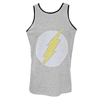 De Flash Jersey logo mannen ' s grijs Tank Top