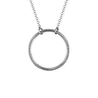 Elli kvinnors halsband i silver 925 med cirkelform hängande