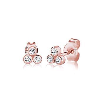 Diamore Silver Women's Pin Earrings