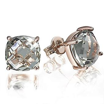 Goldmaid Pearl Earrings from Purple Amethyst Rose Gold