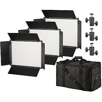 BRESSER SH-1200A bi-color LED Surface lights set van 3