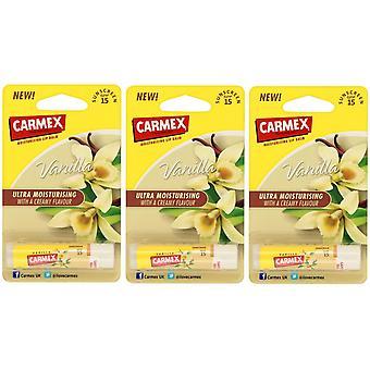 Carmex Vanilla Stick X 3