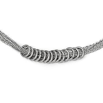 925 Sterling Argent Poli Multi brin Collier 18 pouces Bijoux Cadeaux pour les femmes - 11,9 Grammes