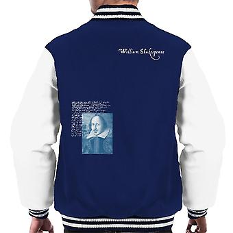 A.P.O.H Williams Shakespeare Writings Portrait Men's Varsity Jacket