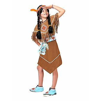 POW WOW Indian Costume Girl Wild West Children Costume Carnival Carnaval