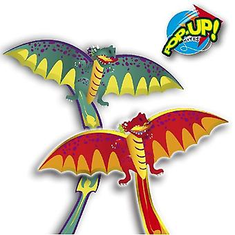 Rhombus Pop-Up 3D Dragon Kite Assortiment