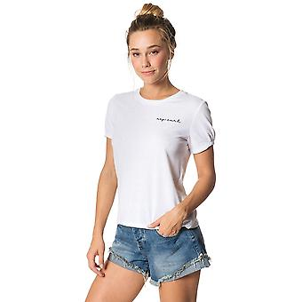 Rip Curl La Dolce Vita Short Sleeve T-Shirt in White