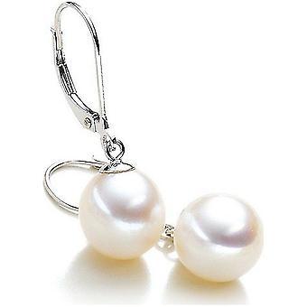 Luna-Pearls Pearl korva korut makean veden helmet 9.5-10 mm 585 valkoinen kulta 1022114
