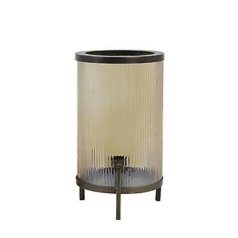 Light & Living Table Lamp Ø22x37 Cm TJARD Glass Gold Luster+antique Bronze