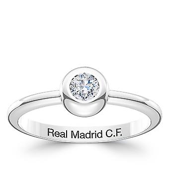 Real Madrid FC Diamond Ring In Sterling Silver Design by BIXLER