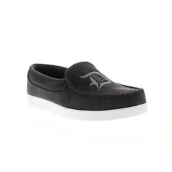 DC Villain TX SE  Mens Black Canvas Slip On Athletic Skate Shoes