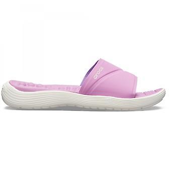 Crocs 205474 Reviva Slide naiset Slide sandaalit violetti/valkoinen