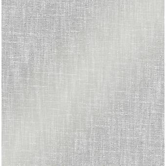 Crown Scandi Linen Hessian Textured Effect Glitter Wallpaper Silver Grey