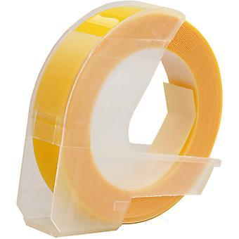 Kaseta Prestige™ biała na żółtych taśmach wytłaczających (9mm x 3m) kompatybilna z dymo s0717930 omega home i s0717900 junior emiterów