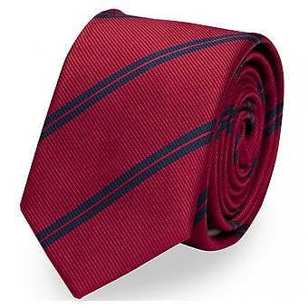 SlipS Cravatta Cravatta 6cm Rosso Blu Rosso Striscia Fabio Farini