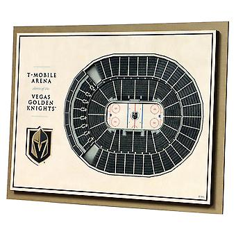 YouTheFan Wood Wall Decoration Stadium Vegas Golden Knights 43x33cm