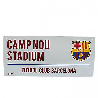 FC Barcelona Official Street Sign