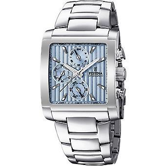 Festina CHRONO F20423-1-Uhr - Armbanduhr Stahl stahlblauen Himmel Mann Armband