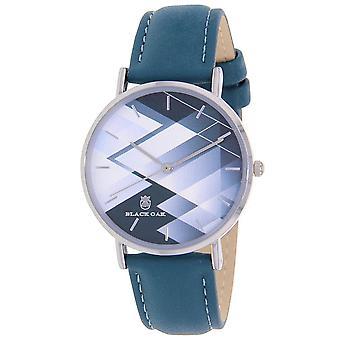 Watch Black Oak BX40002-207 - leather blue steel Silver Dial blue woman case