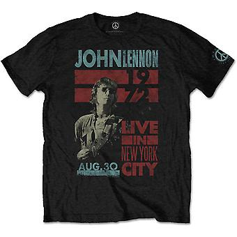 John Lennon Live in NYC 1972 The Beatles Official T-Shirt