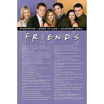 Friends Everything I Know Poster