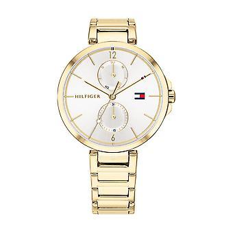 Tommy Hilfiger horloge 1782128-multifunctionele stalen kast dor ronde witte wijzerplaat stalen armband dor staal vrouwen