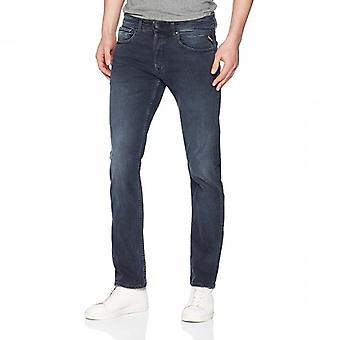 Replay Grover Straight Fit Blue Black Washed Denim Jeans MA972 143 387 007