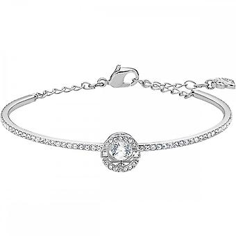 Swarovski Sparkling Dance Rhodium Plated & Clear Crystal Bangle