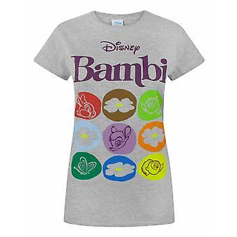 Disney Bambi Motif Women's T-Shirt
