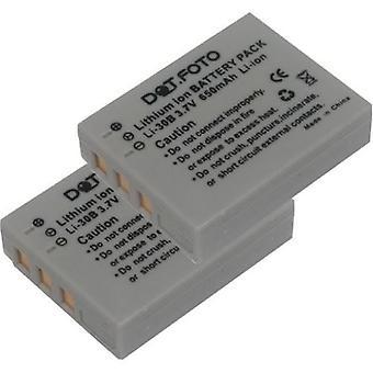 2 x Dot.Foto Olympus LI-30B wymiana baterii - 3.6V / 650mAh