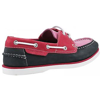Hush Puppies Hattie Lace Up Boat Shoe Pink / Navy